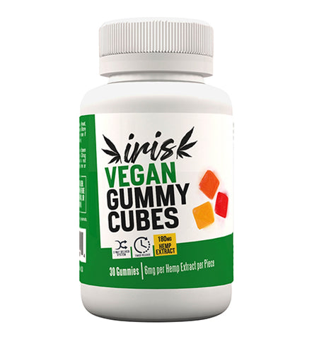 Vegan Gummy Cubes 180mg.