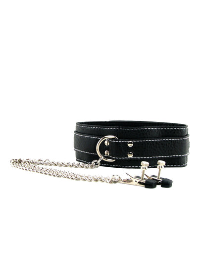 Choker with Nipple Clamps Black