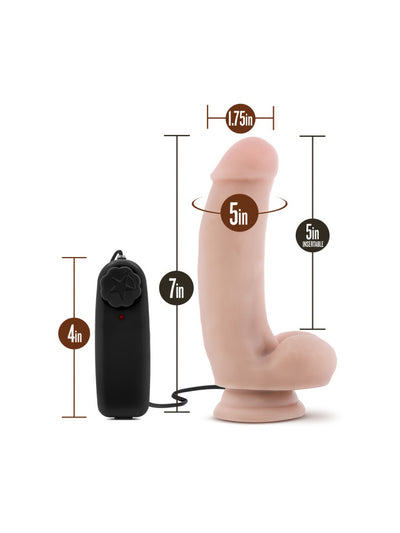 "The Quarterback - 7"" Vibrating Dildo"