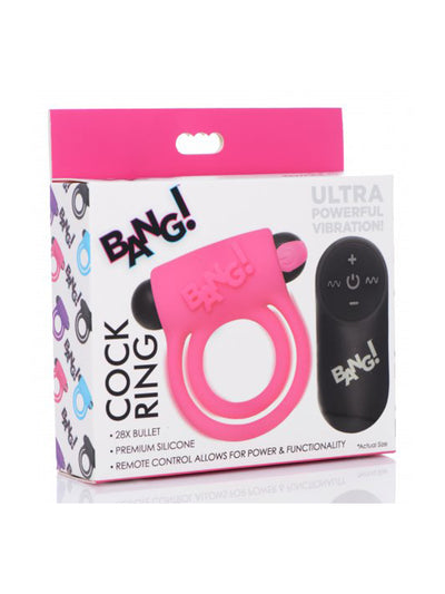 Bang! Cock Ring With Remote Control
