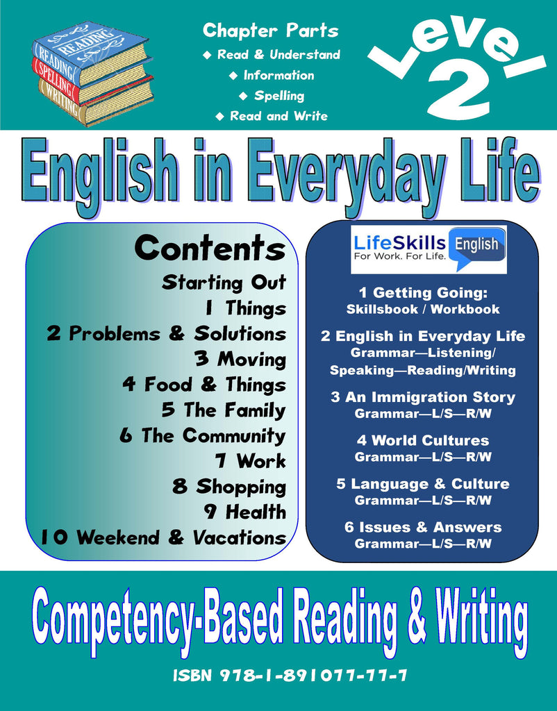 05A: LIFE SKILLS LEVEL 2 READING / WRITING BOOK - Student