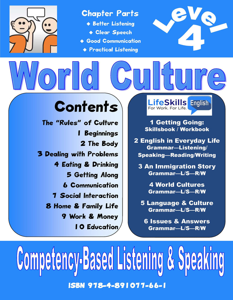 10A LIFE SKILLS LEVEL 4 LISTENING / SPEAKING BOOK - Student