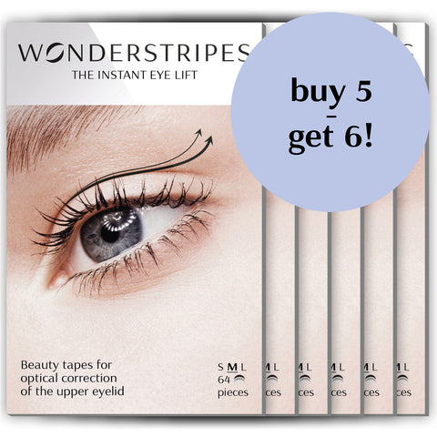 WONDERSTRIPES Value Pack (M) 6 x 64 beauty patches - free shipping