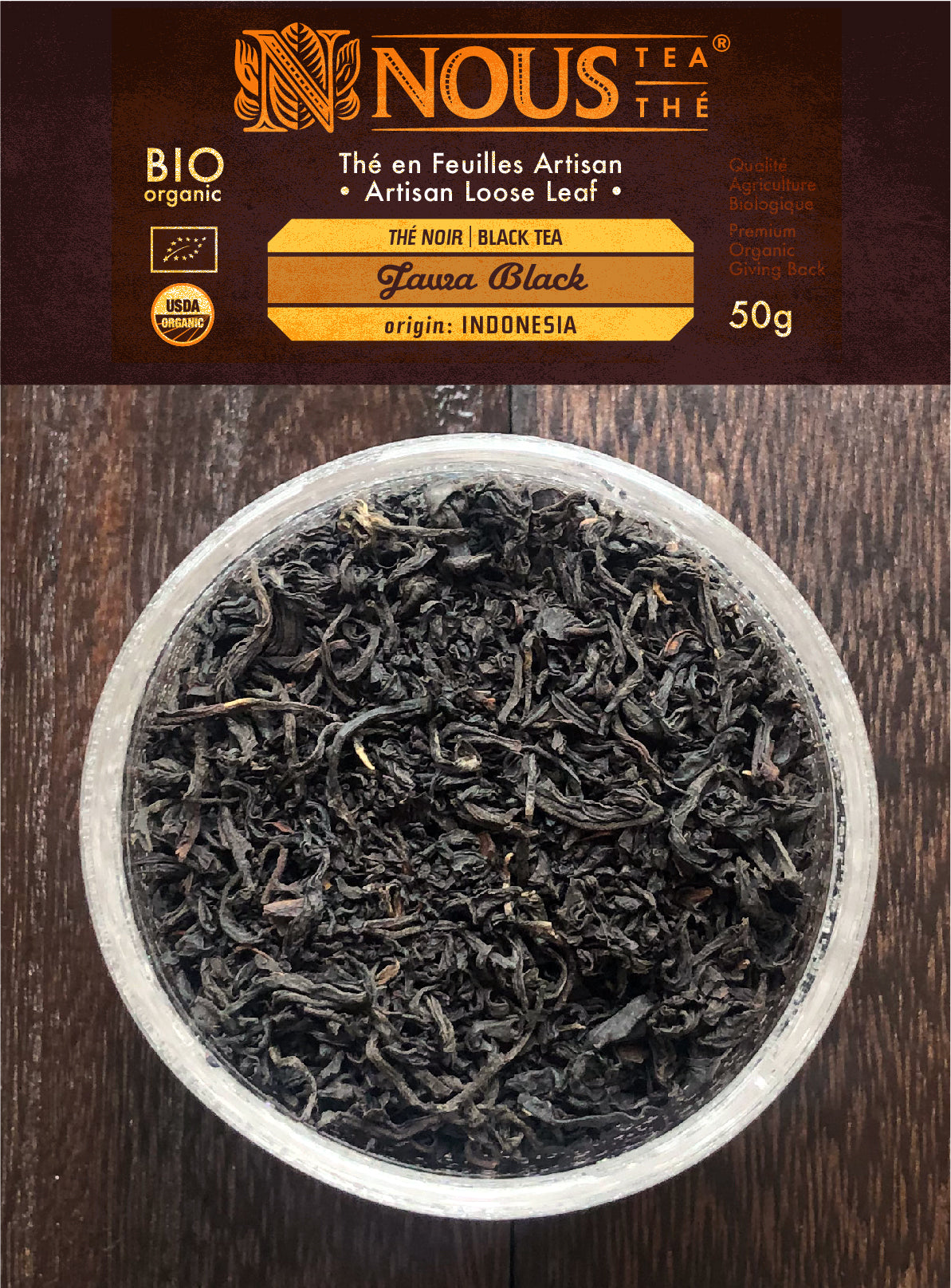 Artisan collection: Jawa black organic tea