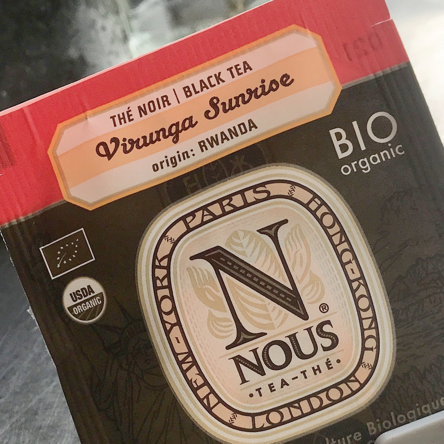Virunga Sunrise organic black breakfast tea - Rwanda