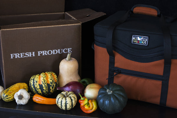 The insulated Farm Box Cooler is made to fit your CSA share box in. Fits standard 3/4 bushel boxes.