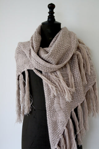 Triangle wrap scarf