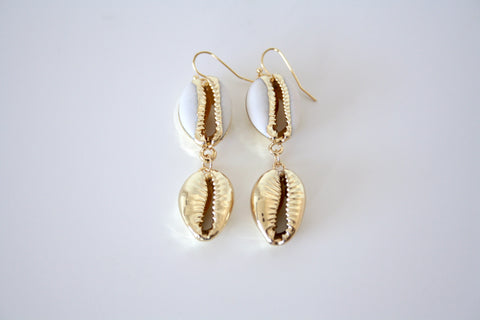 Double shell earring
