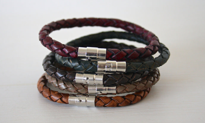 Braided Leather Bracelet - Atelier Kollee