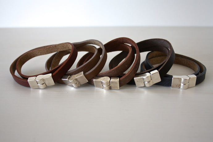 Double Leather Bracelet - Atelier Kollee