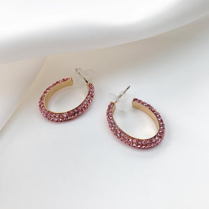 Oval hoops pink