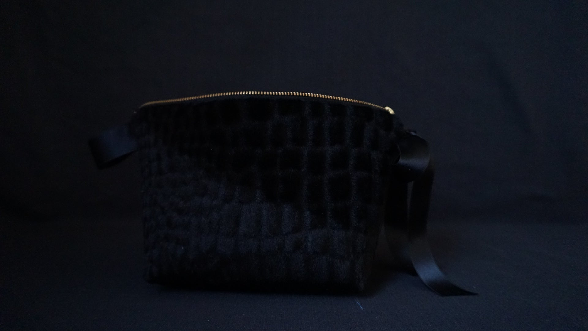 Golden Black Makeup Bag