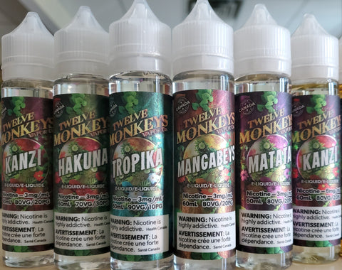 Twelve Monkeys - 60ml Freebase E-juices