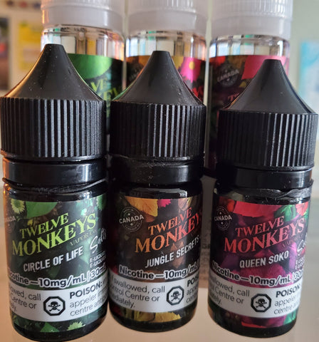 Twelve Monkeys Salt Nic E-Liquid