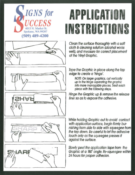 Decal Application Instructions  Cranked Up Gear - Custom vinyl decal application solution