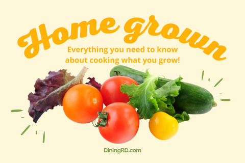 Home grown produce with community garden