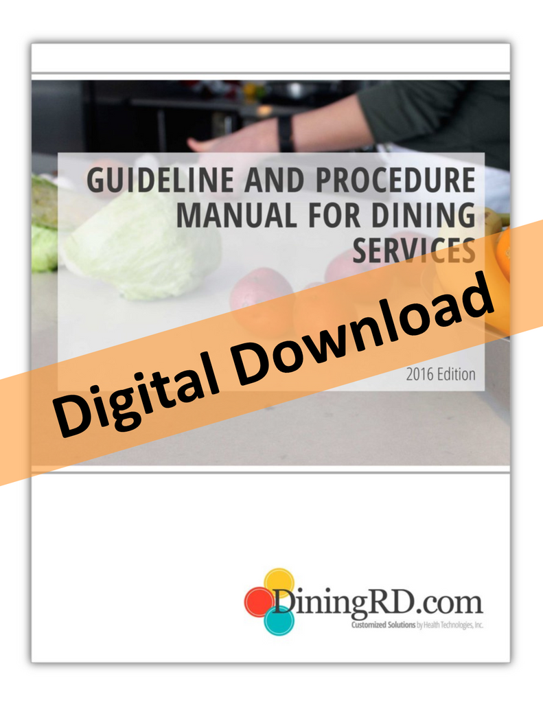 Manual - Guideline and Procedure Manual for Dining Services (Digital Download)