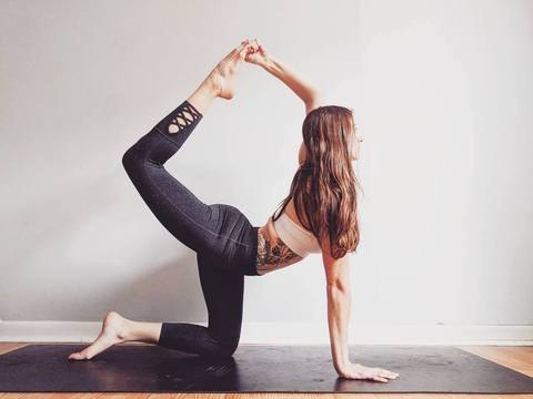 Stretch Away Your Seated Day in this 10 Minute Full Body Flow by Molly Pooler