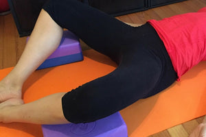 Restorative: Supine Butterfly Pose With Blocks