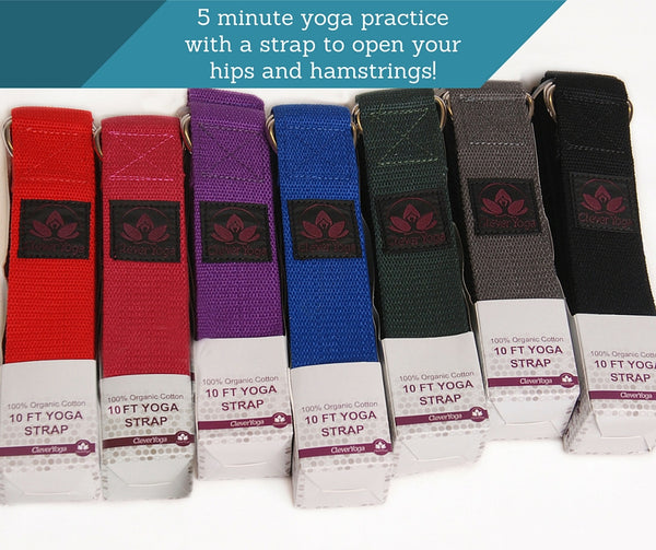 yoga strap practice 5 minutes clever yoga