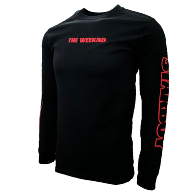 The Weeknd Starboy logo red block style t-shirt