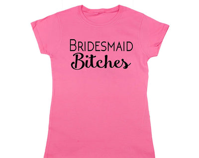 Bridal Party T-Shirts For Bride Bachelorette Maid Of Honor Bride Squad