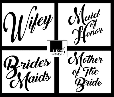 Wifey Bridal Party T-Shirts Maid Of Honor Bridesmaid Mother Bride Squad