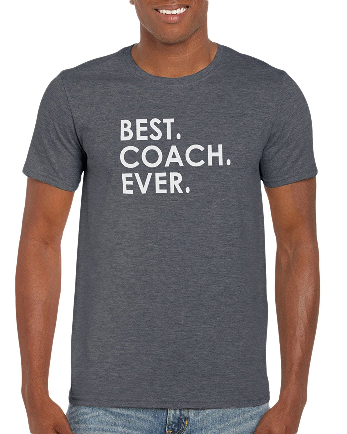 c643adc9f The Red Garnet Best Coach Ever T-Shirt Sports Dad Soccer Baseball Football  or Team