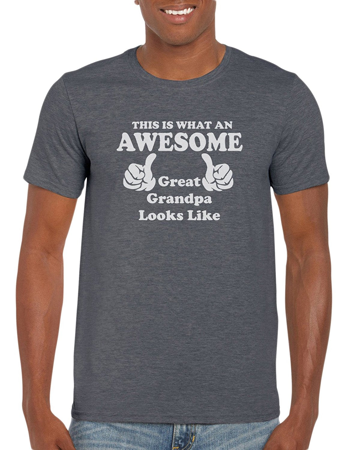 96223def This Is What An Awesome Great Grandpa Looks Like. Graphic T-Shirt Gift Idea