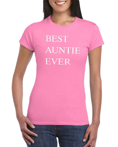 The Red Garnet Best Auntie Ever Funny T-Shirt Gift Idea For Women
