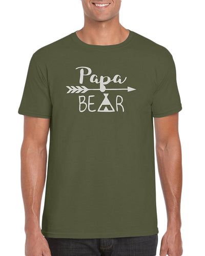 The Red Garnet Papa Bear Indian Arrow Teepee Graphic T-Shirt Gift Idea For Men