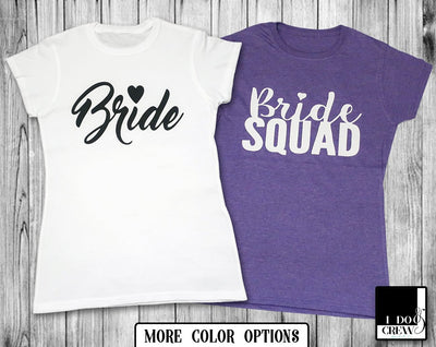 Bridal Party T-Shirts For Bride Bachelorette Maid Of Honor Bride Squad Barbie