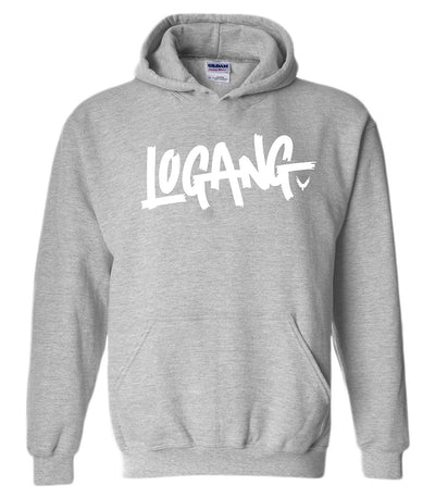 Logang Logan Paul Maverick Adult Hoodies (White Print)
