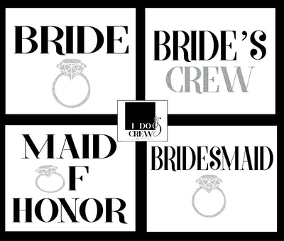 I Do Crew Bridal Party T-Shirt For Bride Squad Maid Of Honor Bridesmaid