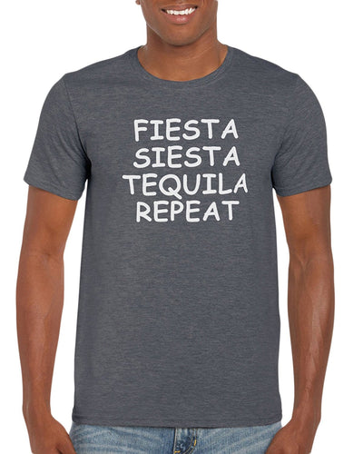 The Red Garnet Fiesta Siesta Tequila Repeat T-Shirt Gift Idea For Men