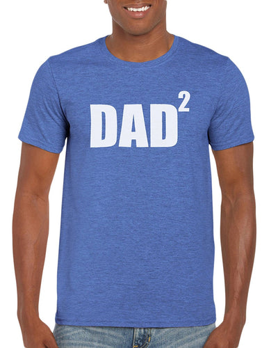 Dad To The Second Power T-Shirt Gift Idea For Men - Funny Dad Gag Gift - Family