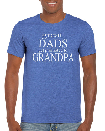 The Red Garnet Great Dads Get Promoted To Grandpa T-Shirt