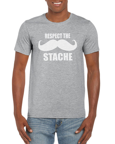 Respect The Stache Graphic T-Shirt Gift Idea For Men