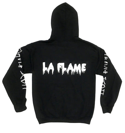 Travis Scott Flame Face Logo Design (White Ink)