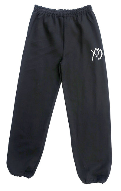 Black XO Sweatpants (White Logo)