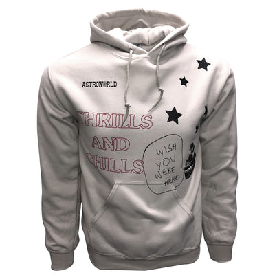 a0adf1d2ae6b Travis Scott Astroworld Hoodie THRILLS and CHILLS Wish you were here ...