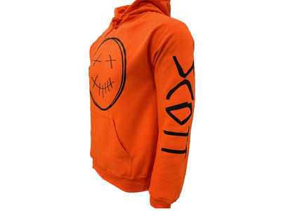 Travis Scott Orange Hoodie, Rodeo Merch,Travis Scott Merch (Black Smiley Face Logo)