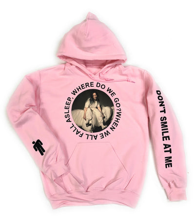 Billie Eilish Hoodie • Where do we go when we all fall asleep? • Don't Smile At Me Hoodie • Billie Eilish Pink Hooded Sweatshirt
