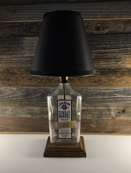 Jim Beam Single Barrel bourbon bottle lamp - BottleCraft By Tom