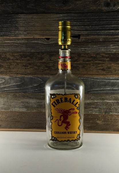 Fireball Whiskey Bottle Lamp - BottleCraft By Tom