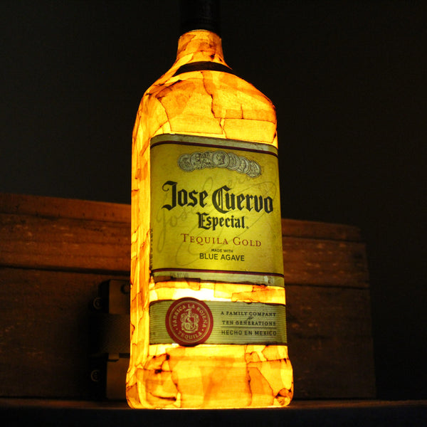Upcycled Jose Cuervo Gold Tequila Bottle Lamp