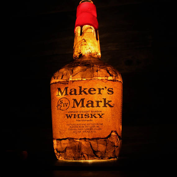 Makers Mark Bourbon Bottle Lamp