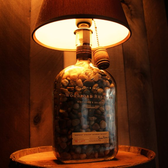 WoodFord Reserve / Bourbon Lamp / Bottle Lamp / Handcrafted