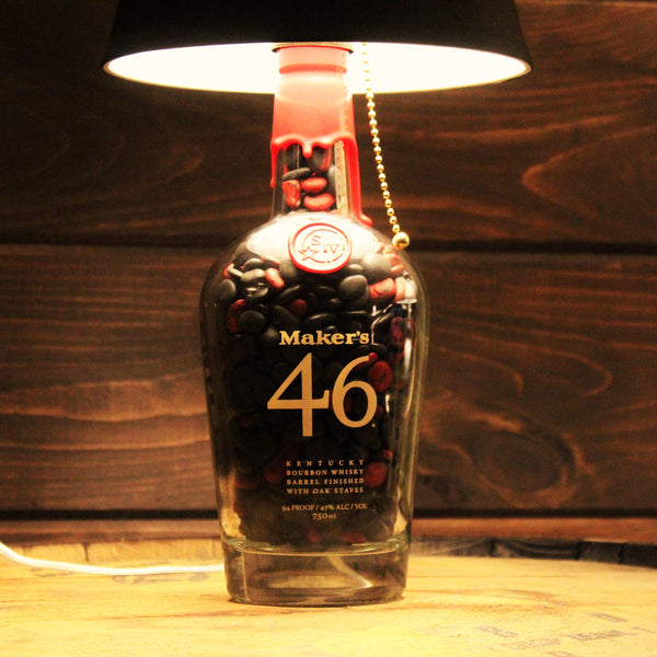 Makers 46 Bourbon Whiskey Bottle Lamp