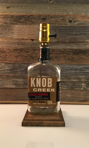 Knob Creek Single Barrel Bourbon Bottle Lamp